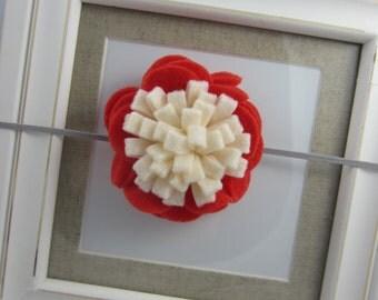 Flower Headband Coral Ivory