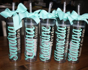 Personalized Tumbler, Wedding tumbler, Bride Tumbler, Bridesmaid Tumbler, Bachelorette Tumbler, Favor Gift