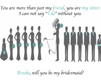 Bridesmaid Letter - Customizable Digital File