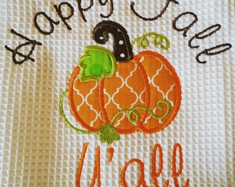 Happy Fall Y'all Dish Towel