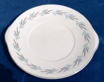 "Vintage 1950s Royal Grafton ""Grey Mist"" Cake Plate"