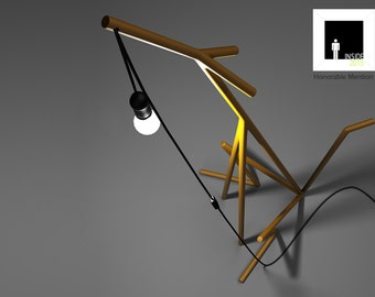 Red Fox floor lamp. Metal lamp. Fox lamp. Floor lamp. Unique home lighting