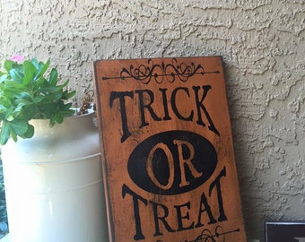 Trick Or Treat Halloween Sign