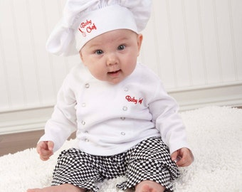 Baby Chef  Layette  (Personalization Available); Baby Gift; Baptism Gift; Christening Gift; Baby Shower Gift; Unique Baby Gift