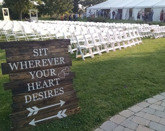 Rustic Wedding or Special Event Sign