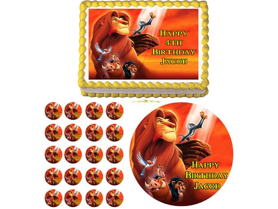 Edible Cake Images Lion King : The Lion King Edible Birthday Party Cake by ...