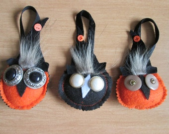 3 owls decoration Halloween (A)