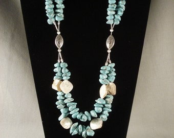 Fabulous Vintage Navajo Turquoise Necklace Bracelet Set