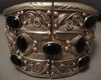 404 Gram Unprecedented Vintage Navajo Bicep Bracelet Sterling Silver Old