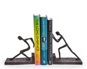 Men Pushing Metal Bookend Set Danya B™ ZI6314