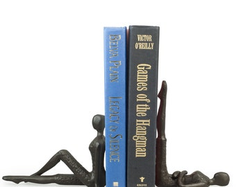 Ladies Stretching Metal Bookend Set Contemporary Style Home Decor Danya B™ ZI11217