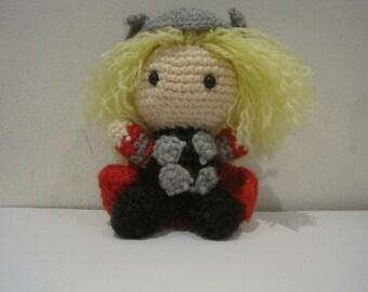Handmade Crochet Amigurumi Thor Doll - Marvel Avengers