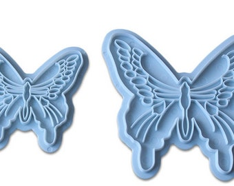 2pce Hollow butterfly press die bakeware, Soap molds, chocolate molds, soap mold soap,