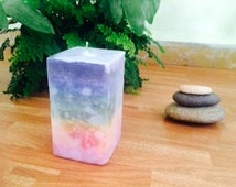 Chakra Handmade Scented and unscented Candles - Show Pride with Rainbow candle Velas para Meditacion de Chakras con fragancias