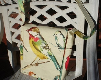 Bird Print Messenger Bag