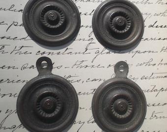 Lot (4) Antique Bolt Covers