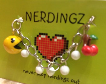 Pac Man Charm Bracelet