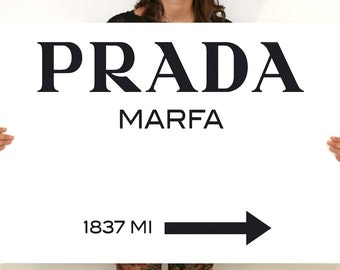 Modern painting Prada Marfa Gossip Girl 70x100cm