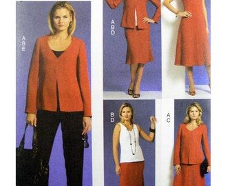 2009 Vogue Five Easy Pieces 8567 Misses' Jacket, Top, Dress, Skirt and Pants Uncut, Factory Folded Sewing Pattern Various Sizes