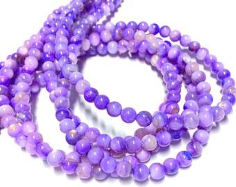 4mm Charoite Gemstone Beads - 14.5inch Full strand - Round Gemstone Beads - Purple Gemstone Beads
