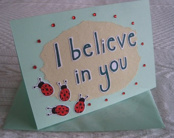 Good Luck Exam/Test/Interview Card - I Believe In You Card