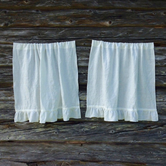 French Country Linen Curtain Panels