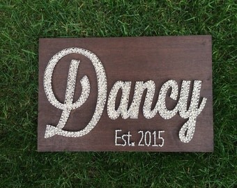Last Name Established Date String Art