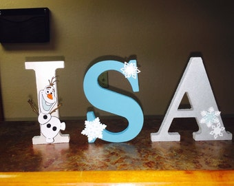 Disney FROZEN Name Letters decor for party or room