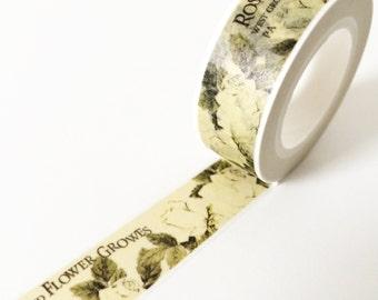 Vintage style mysterious rose poem washi tape