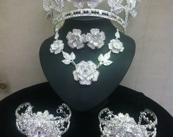 Rose Crown Jewellery Set