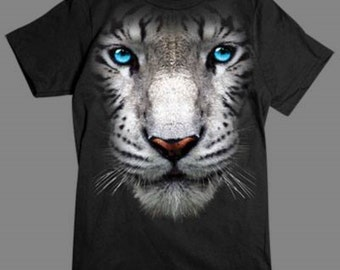 Wild Life T Shirt In Your Face White Tiger Big Cat