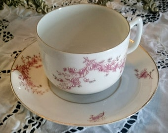 Vintage~Tea Cup Set with Japanese Cherry Blossom~Fine China