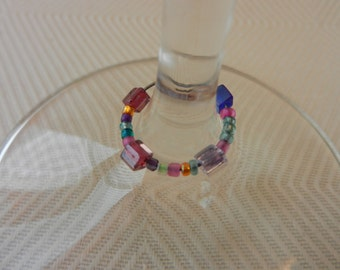 Beaded Wine Glass Charms (set of 4)