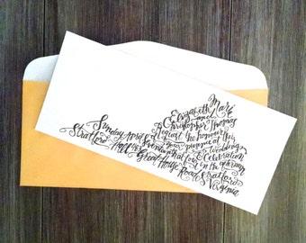 Virginia Wedding Invitation | Handlettered Wedding Invitation | Black & White Invitation | Custom Invitation | Wedding Art | Destination