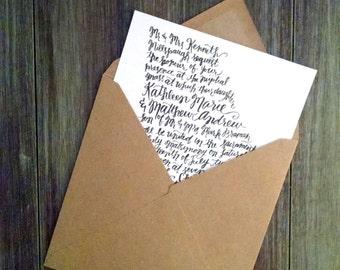 Georgia Custom Hand Lettered Wedding Invitation