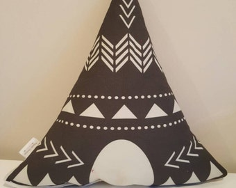 Charcoal Grey TeePee Cushion - PRE ORDER
