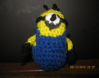 Stuffed minion toy, crochet minion, crochet amigurumi