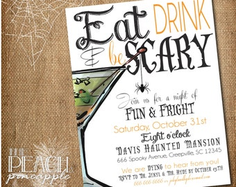 Halloween Invitation Printable, Halloween Party Invitation, Scary Halloween Invitation, Adult Halloween, Digital