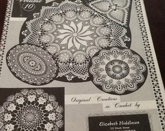 Vintage Elizabeth Hiddleson crochet originals 11- 10-14-13-12 one for 9.95