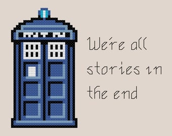 We're all Stories in the End - Doctor Who Cross Stitch Pattern [Doctor Who]