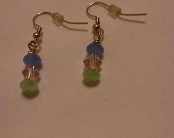 Pastel Crystal Earrings