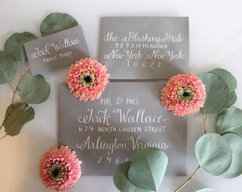 Southern Wedding Calligraphy Envelope Addressing - Sadie Style