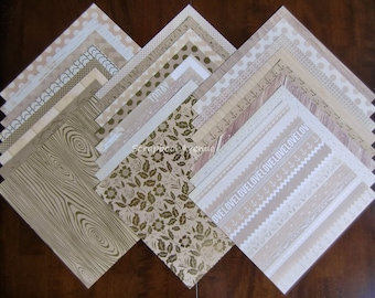 "DCWV The Gilded Paper LOT of 24 Sheets of 12"" x 12"" Scrapbook Printed Cardstock"