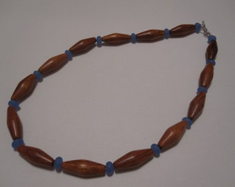 Bayong Wood and Glass bead Necklace