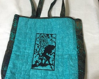 Fairies Quilted Tote