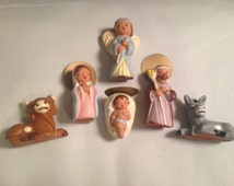 Christmas Nativity Set. Vintage.