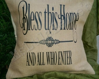 Bless This Home - Inspirational Pillow Cover