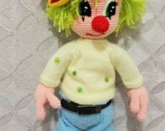 CUTE MR.CLOWN-Amigurumi Crochet Pattern