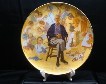 Norman Rockwell Remembered collectible plate.