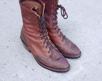 Vintage Boulet Packer Lace-up Boots
